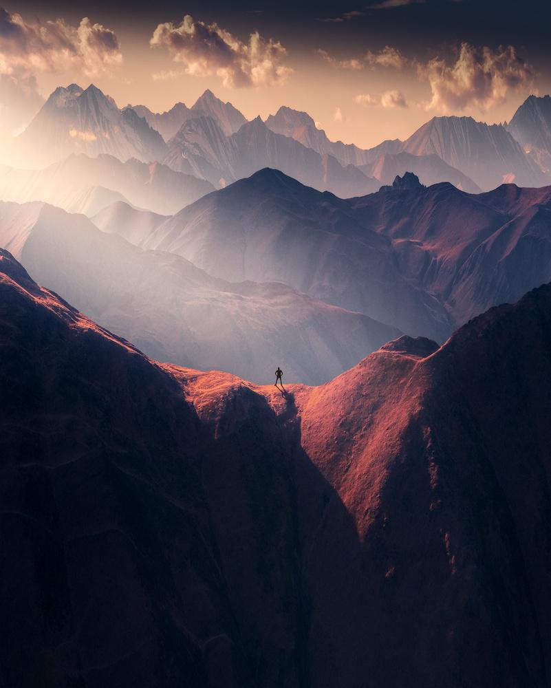 On The Top Of Caucasus by Aytek Çetin