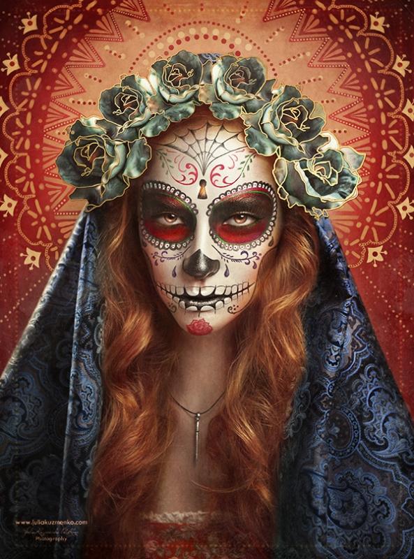 Sugar Skull 2.o - Día De Muertos by Julia Kuzmenko McKim