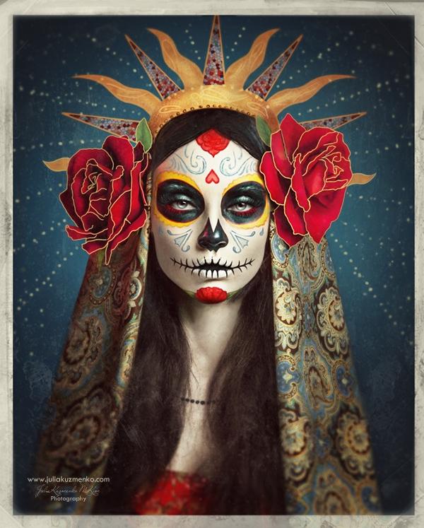 Sugar Skull - Día De Muertos by Julia Kuzmenko McKim