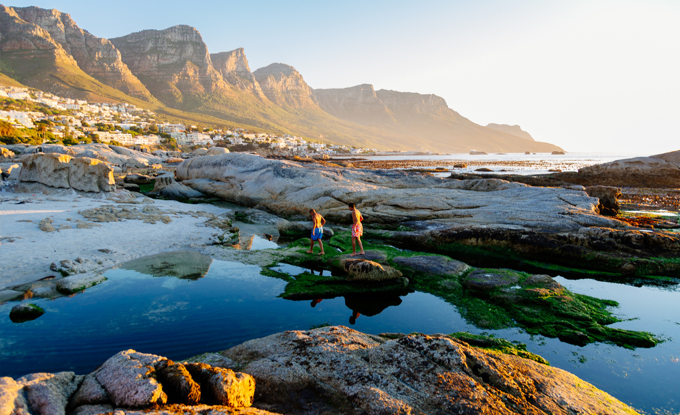 Camps Bay at Sunset by Hillary Fox