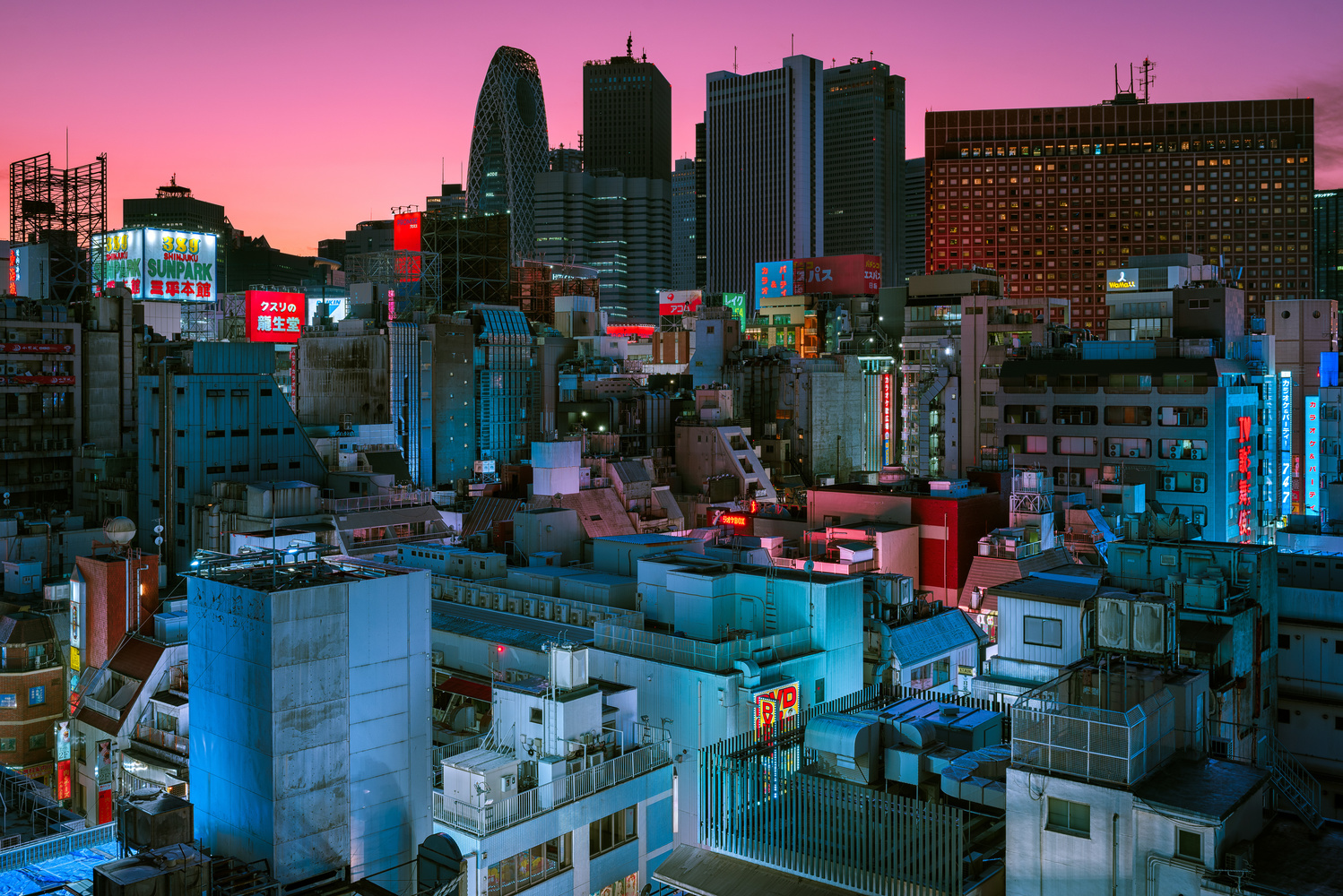 Twilight in Kabukicho by Peter Stewart