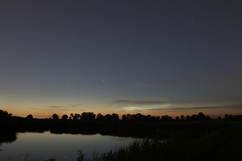 Meadows at night by Tim van der Leeuw
