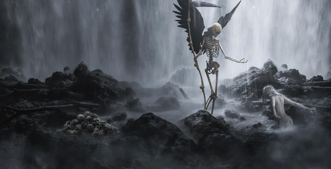 Waterfall death by Emanuele La Grotteria