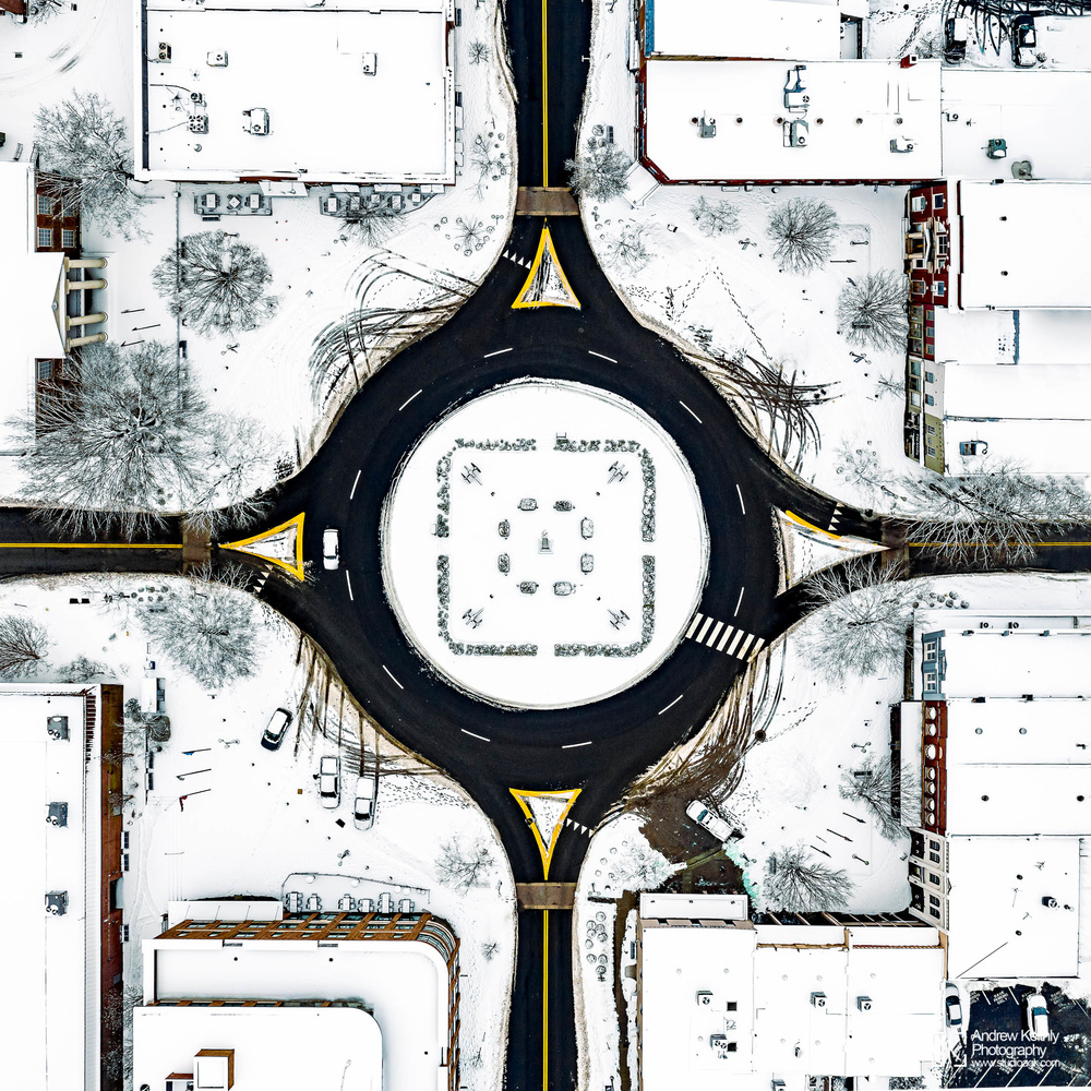 Franklin Square in Snow by Andrew Keithly