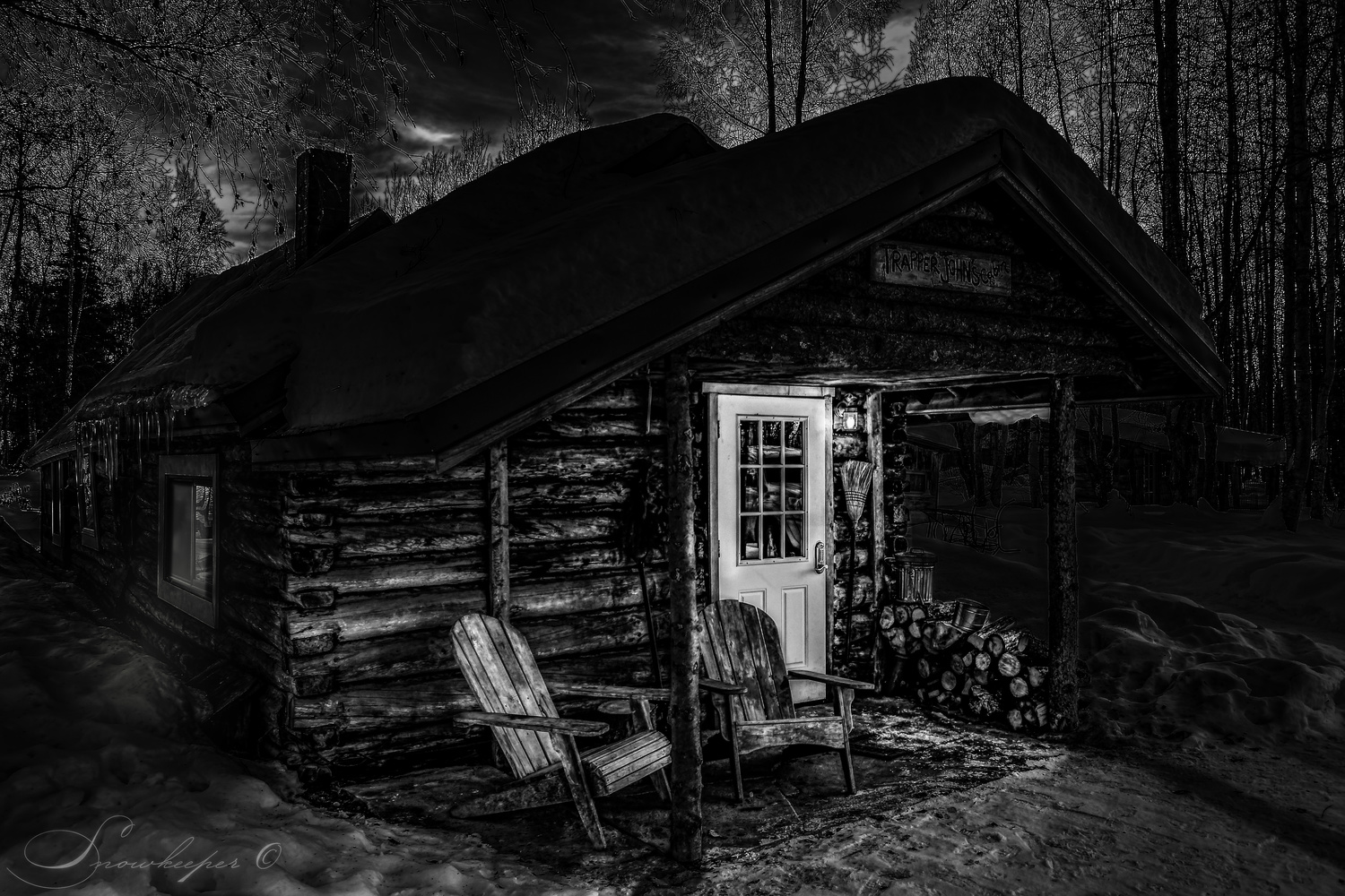 Trapper John's Cabin by Heather Langlois
