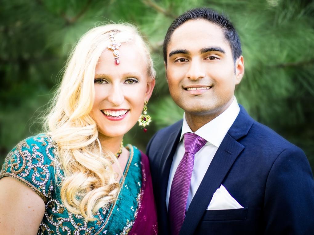 Indian American Bride and Groom by Steve Vansak