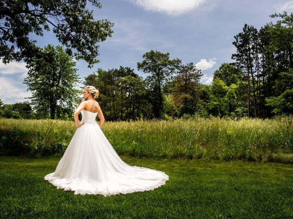 Bride in Indiana Field by Steve Vansak
