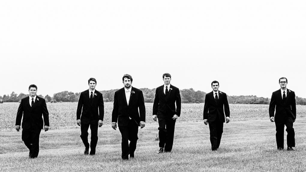 Groomsmen Walking by Steve Vansak