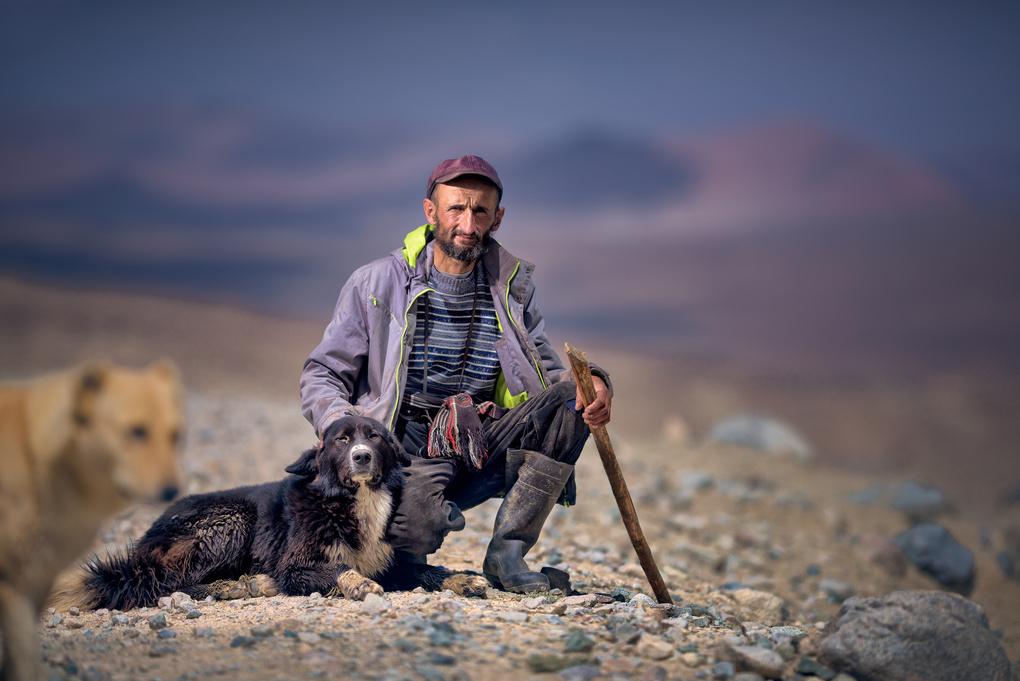 Sheep keeper by Nissor Abdourazakov