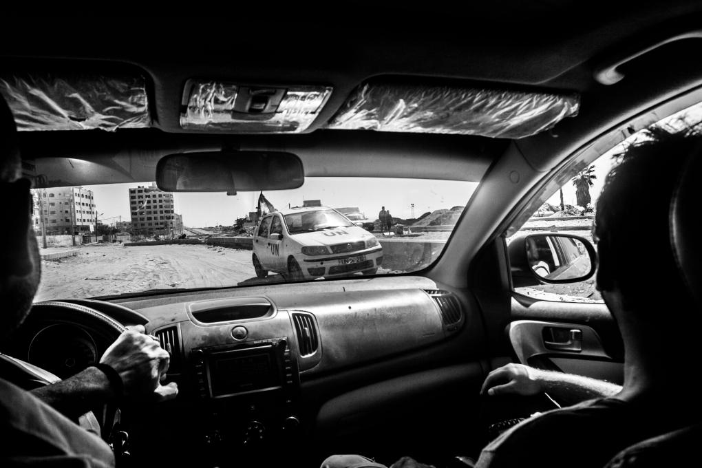 A day driving around war in Gaza by Jan Husar
