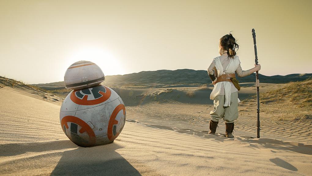 Natasha and BB-8 by TImothy Tichy