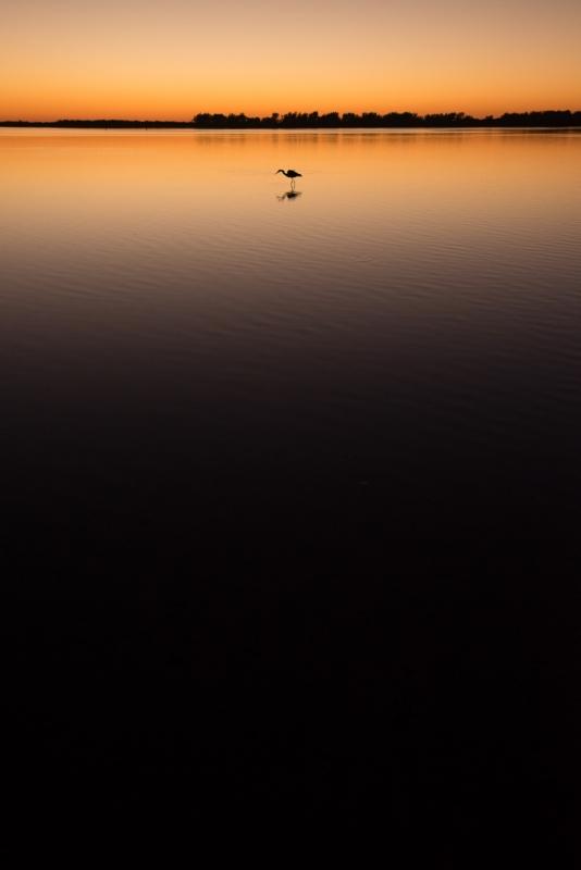 Great Blue Sunset by John Sherman