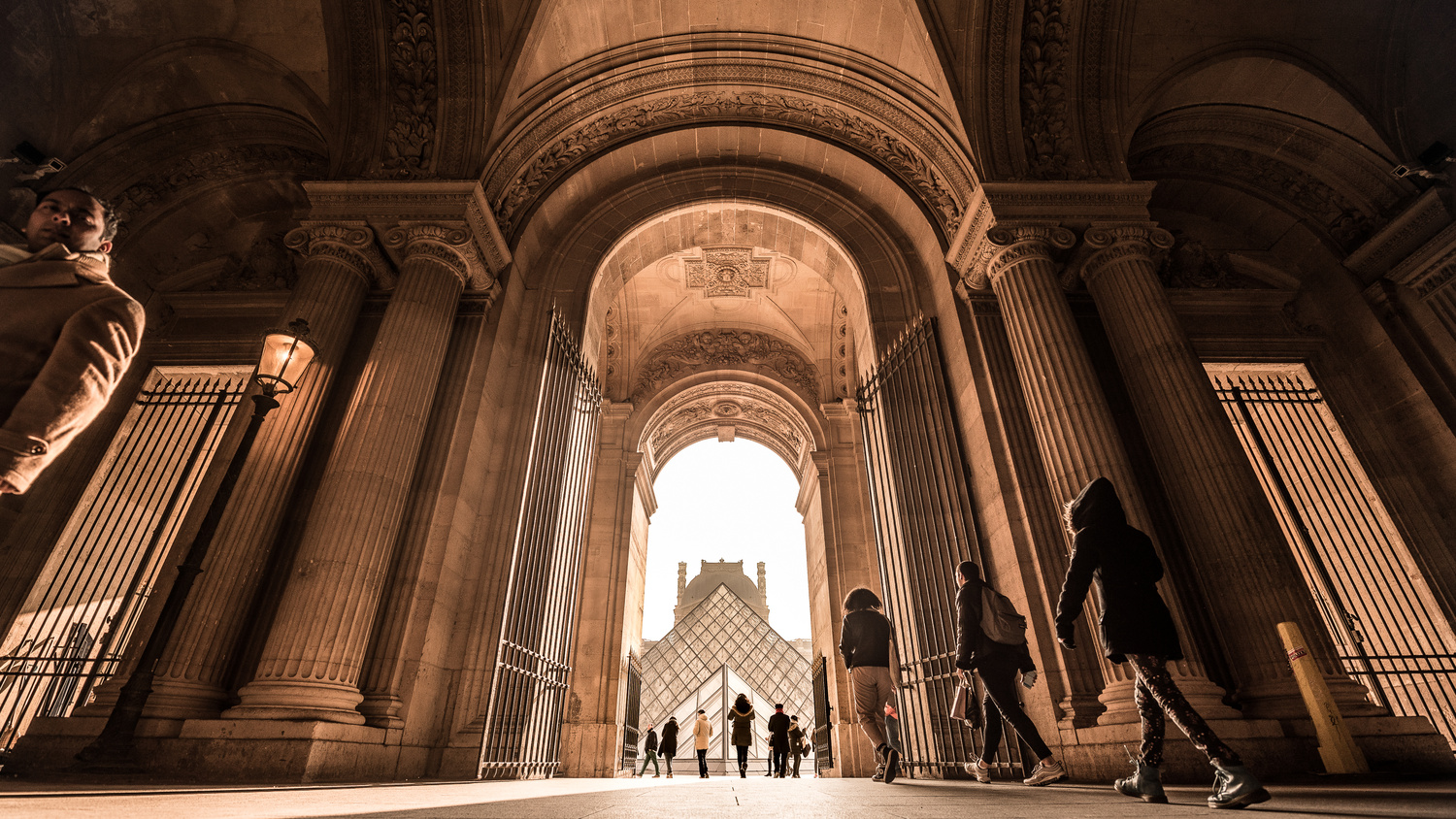 Morning Light at the Louvre by Daniel Lightfoot