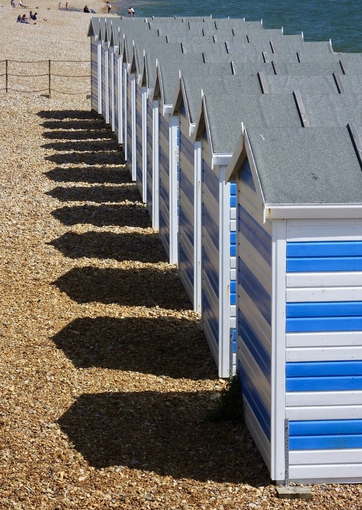 Beach huts 01 by William Hunt