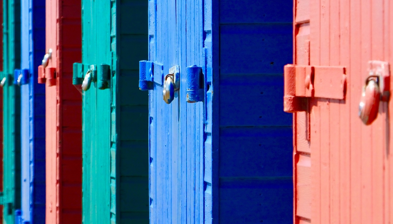 Beach huts 02 by William Hunt