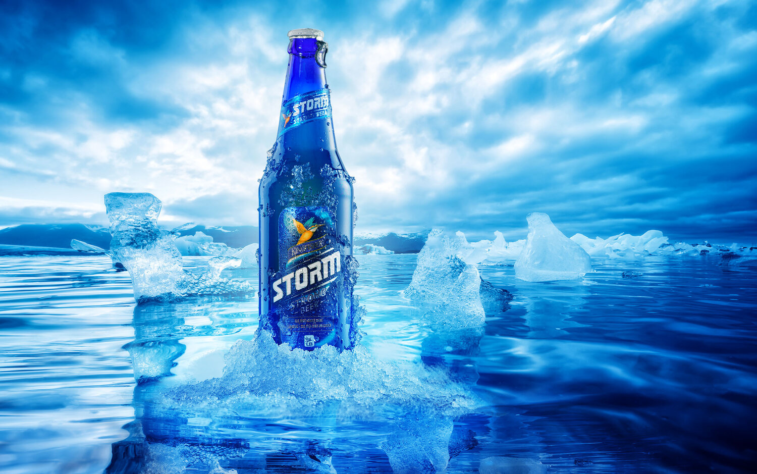 Beer Advertising campaign for Kingfisher Storm by Ashwin pk