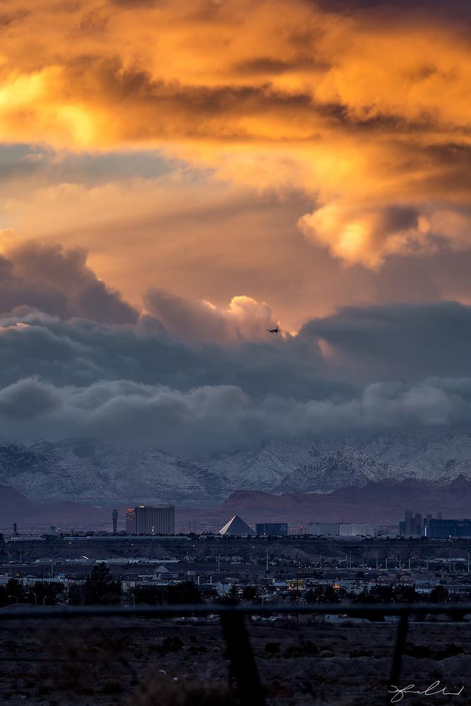 Snow Day Las Vegas by Fraser Almeida