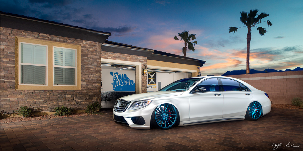 Light Painting Photography - 2016 Mecedes S63 AMG  by Fraser Almeida