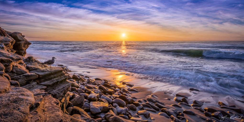 La Jolla Beach Sunset - San Diego, California by Fraser Almeida