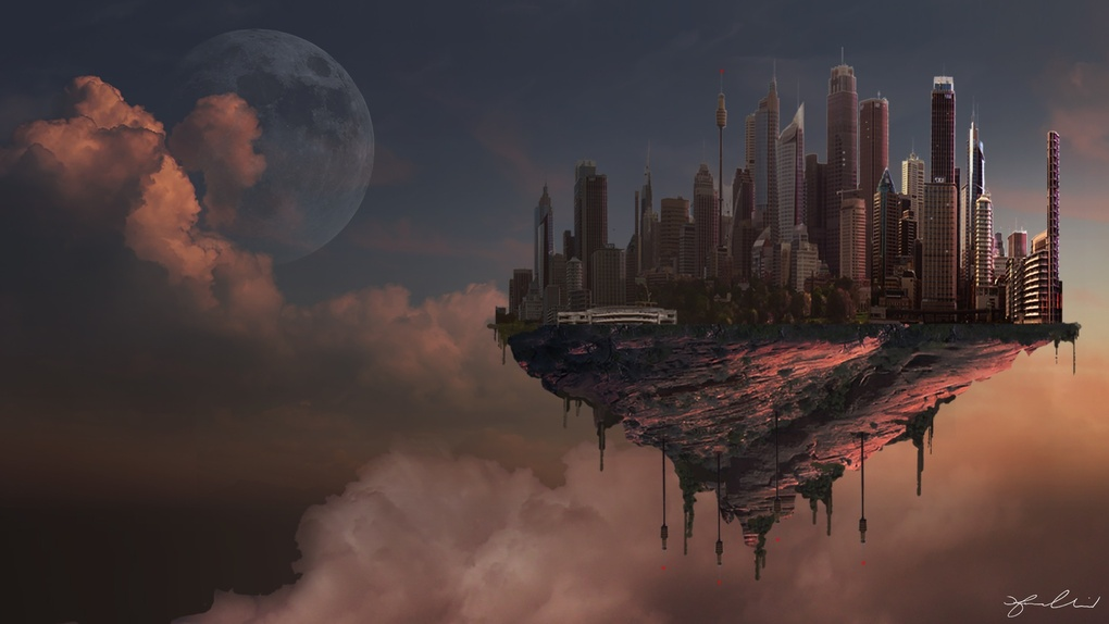 Cloud City - Digital Matte Painting by Fraser Almeida