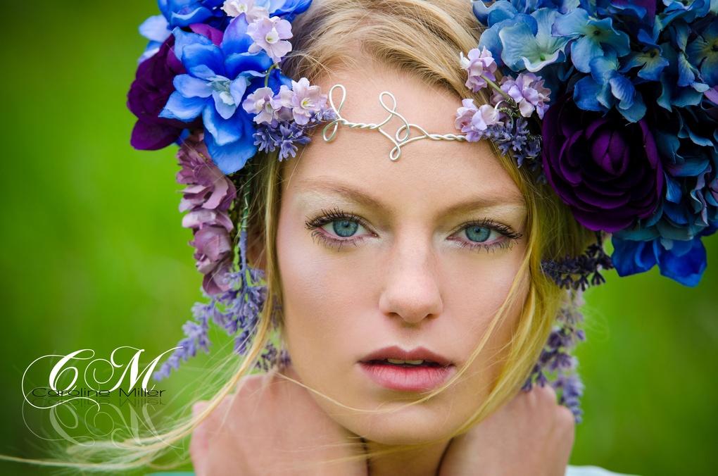 Lavender stare by Caroline Miller