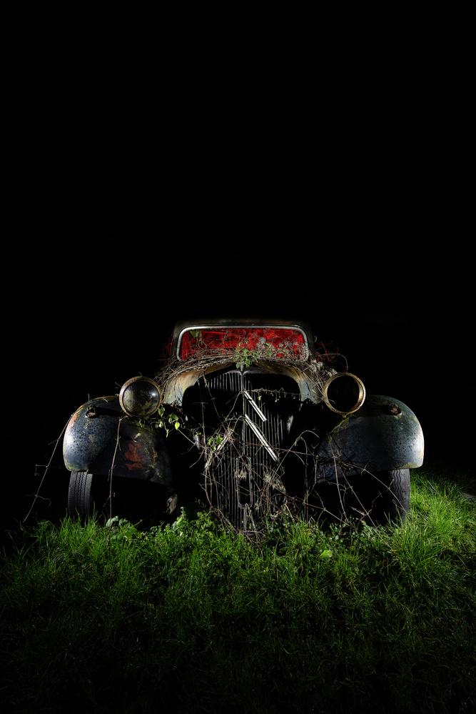 Derelict Citroen Traction Avant (Vintage Car Graveyard) by Callum Cromwell