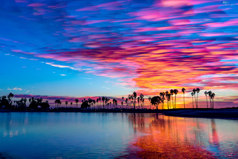 Blended Sunset Over Mission Bay by Samson Samonte