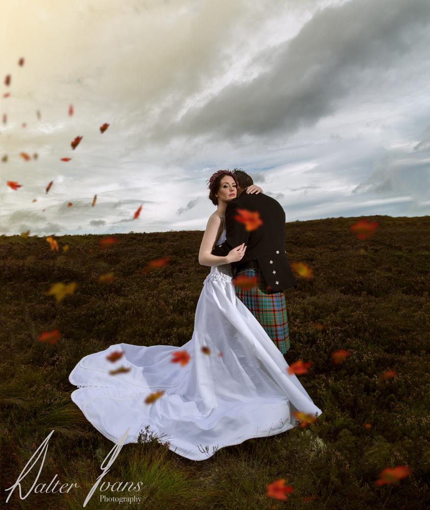 Autumnal Wedding by walter Evans