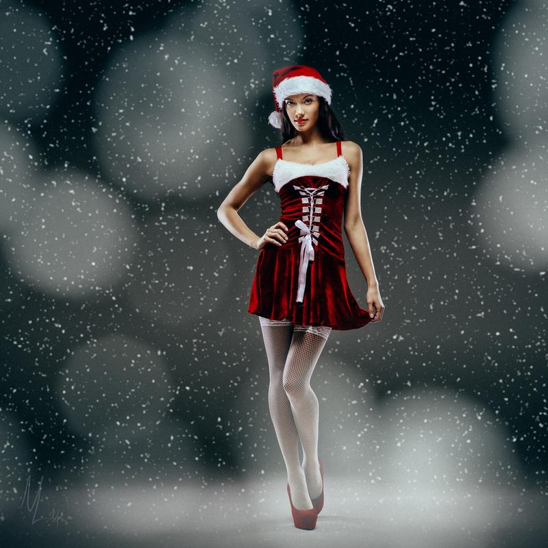 Santa girl by Nikolai Lev4enko