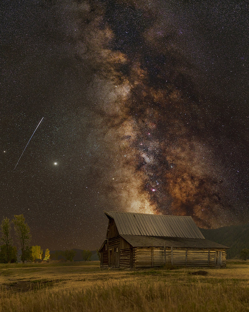 Milky Way over the T.A. Moulton Barn by Charles Maier