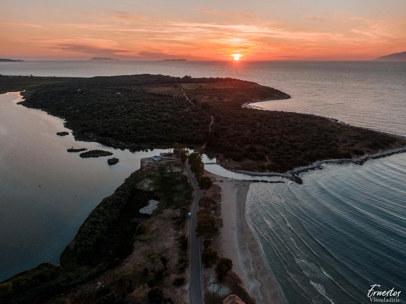 Corfu Agios Spiridon beach by ernestos vitouladitis
