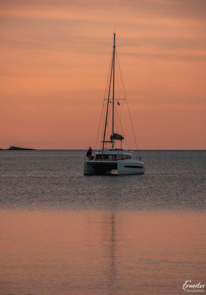 Sunset Sail by ernestos vitouladitis
