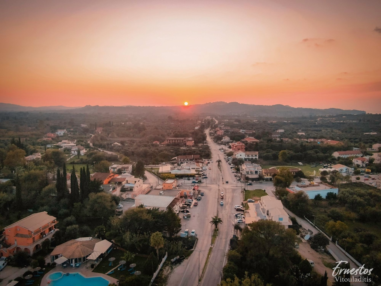 Sunset in Roda, Corfu by ernestos vitouladitis
