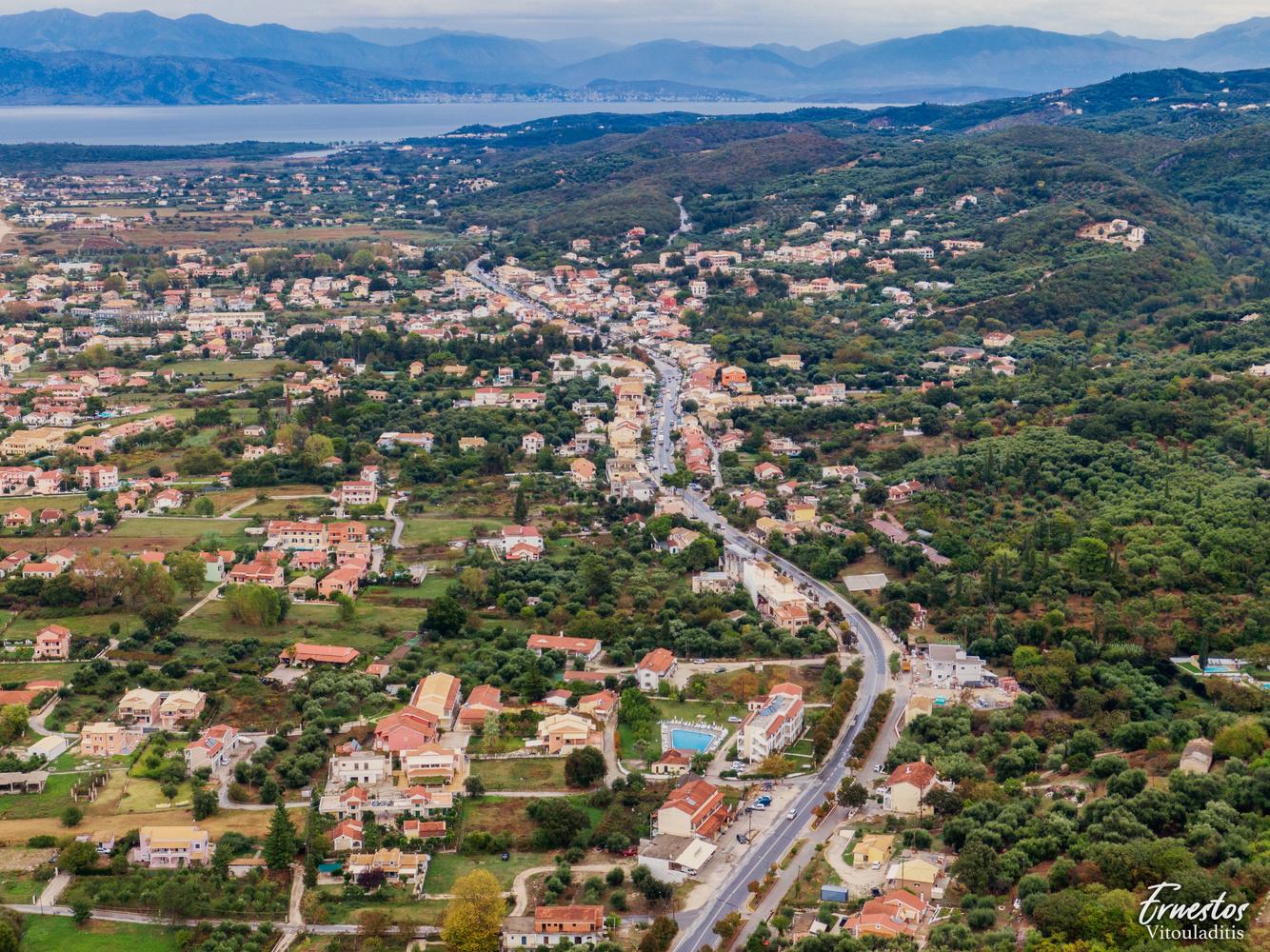 Acharavi Corfu Aerial view by ernestos vitouladitis