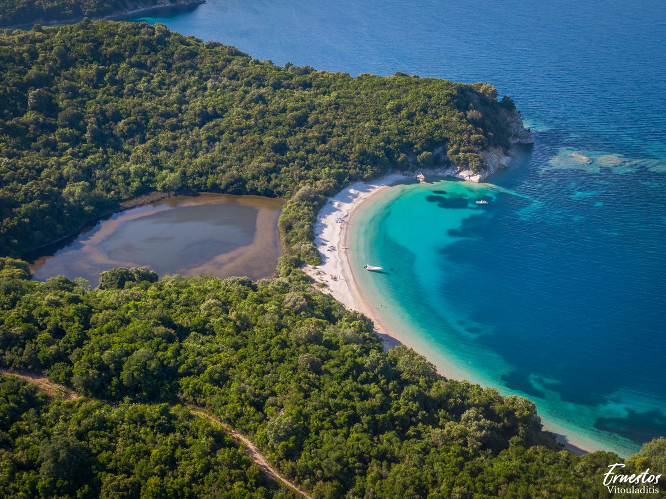 Akoli beach corfu by ernestos vitouladitis