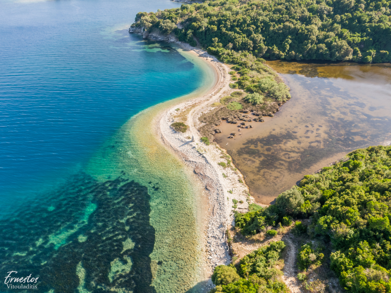 Erimitis corfu beautiful beach by ernestos vitouladitis
