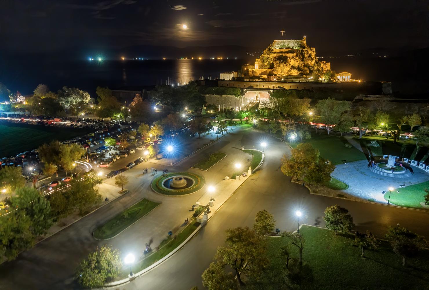 Corfu by night by ernestos vitouladitis