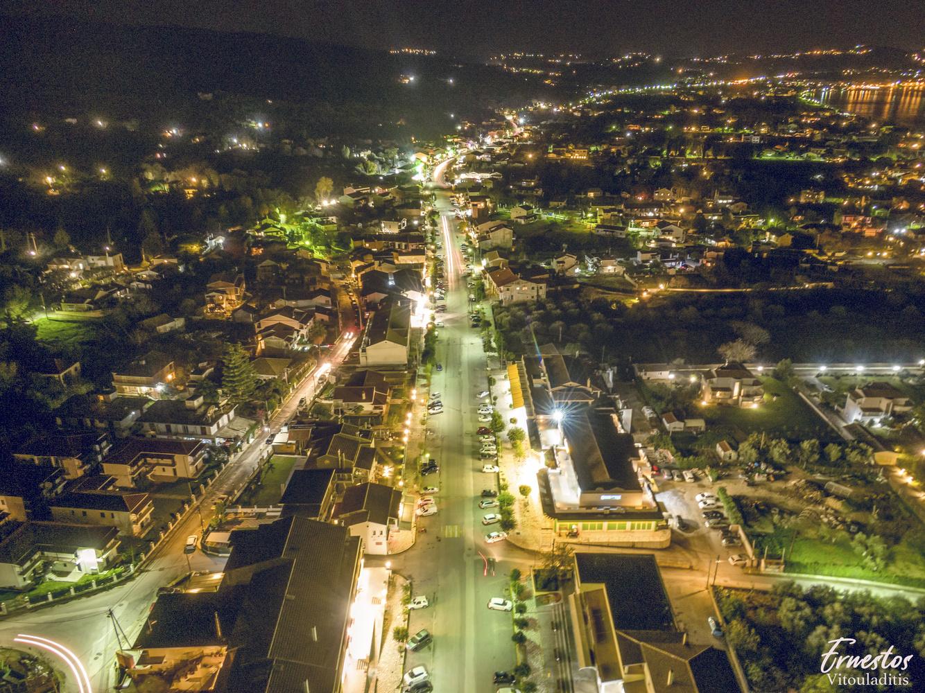 acharavi by night by ernestos vitouladitis