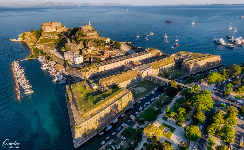Corfu old fortress by ernestos vitouladitis