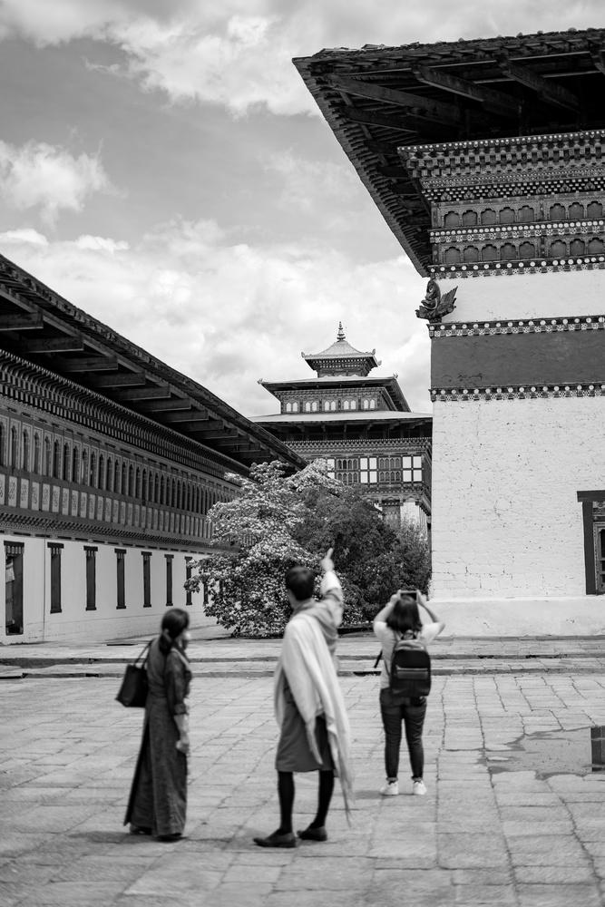 Guide showing Bhutan's buddhist architecture by Pragyan Bezbaruah