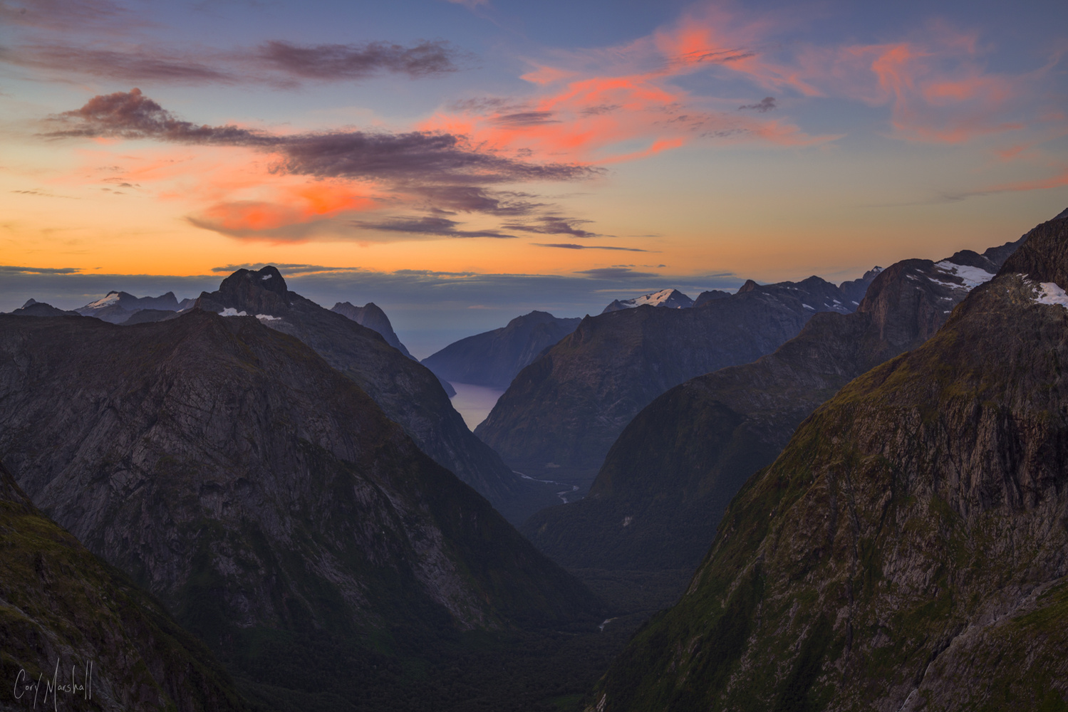 Gertrude Saddle Sunset by Cory Marshall