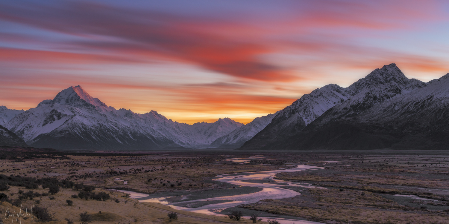 Mt. Cook Sunrise by Cory Marshall