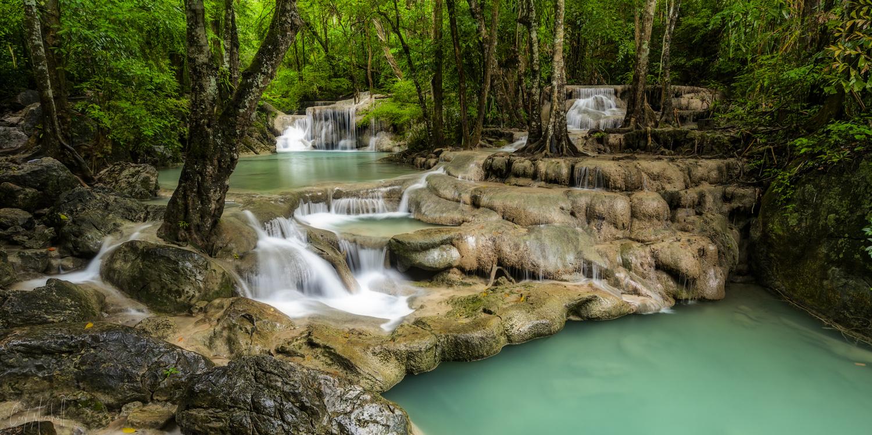Erawan Falls by Cory Marshall