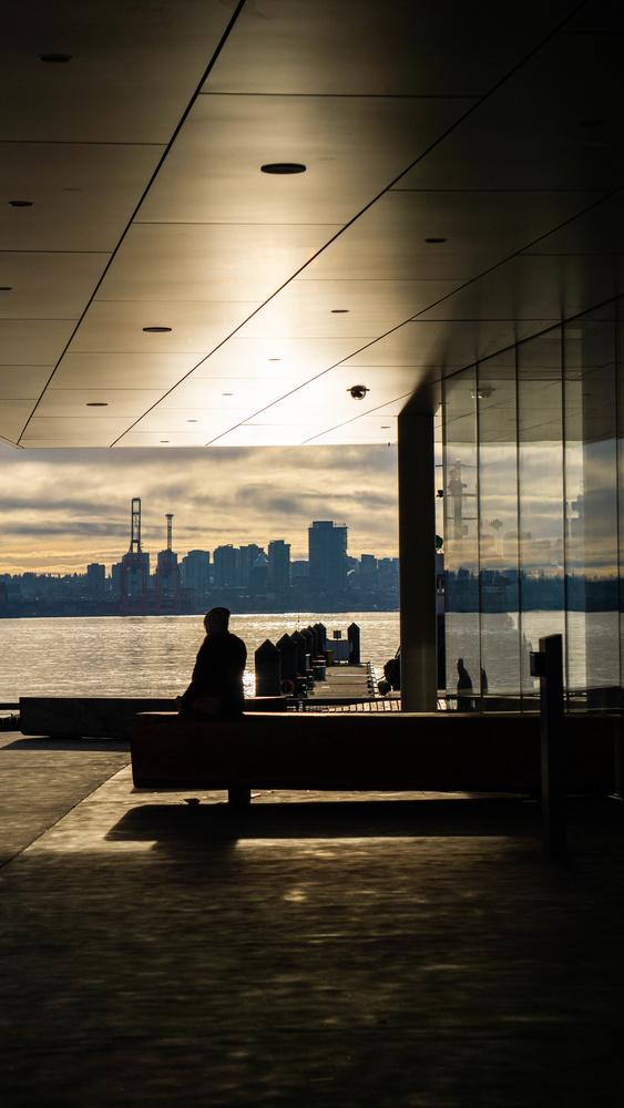 Sunset by the docks by Nahmi Javaheri