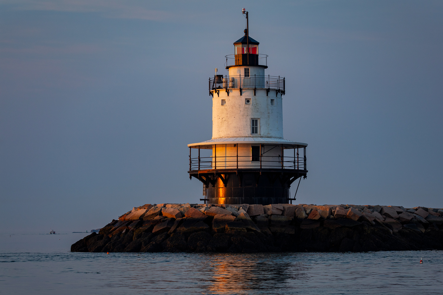 Spring Point Ledge Lighthouse by Rob Lace