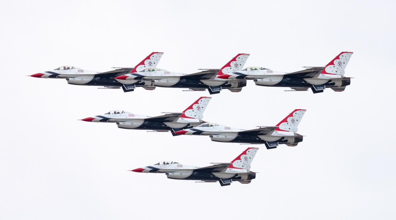 Thunderbirds Flyover by Rob Lace