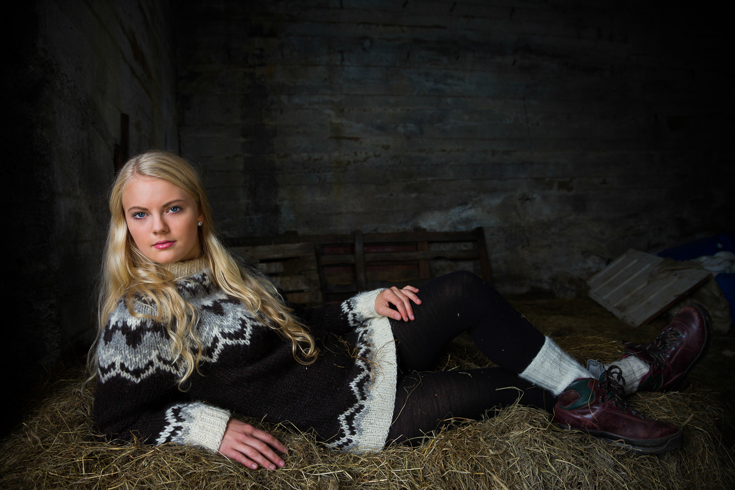 Maiden in a Barn by Rob Lace