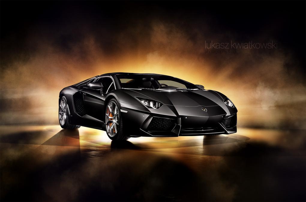 Lamborghini Aventador in Black by Lukasz Kwiatkowski