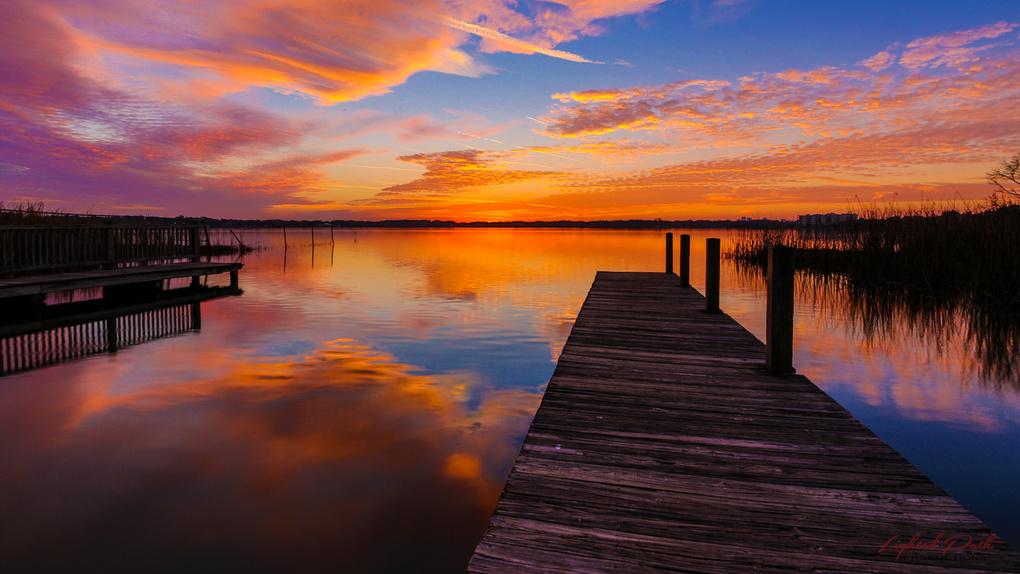 Sunrise over Lake Fairview by Jim Kilgo
