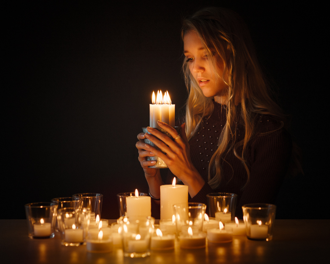Candle light by Michael Kloetzer